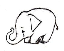sad eephant